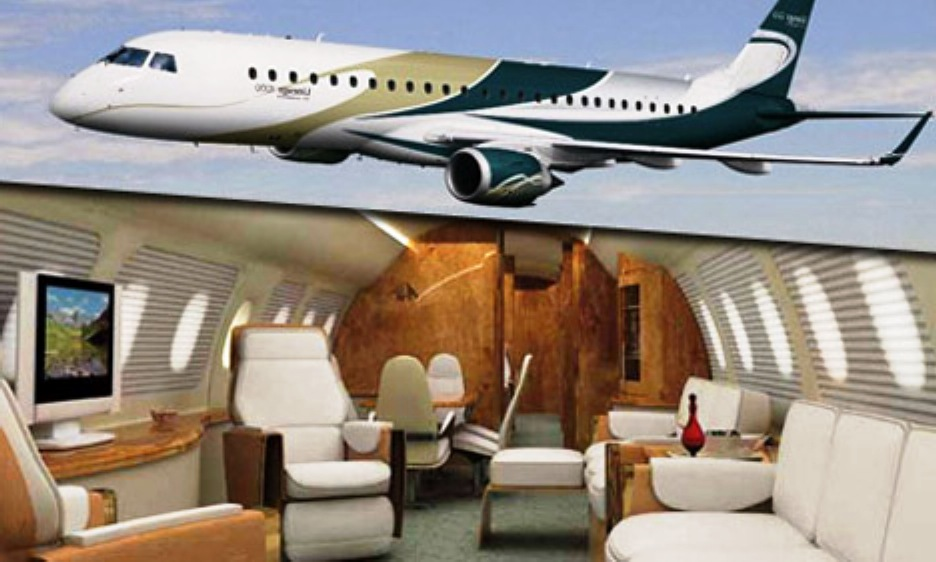 Inchiriere avion privat-avion de linie modificat pentru zbor privat